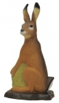 3D terč zajac sediaci